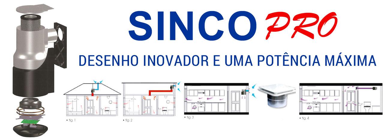 Especificações técnicas Sinco PRO sistema de ventilação forçada